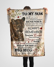 """To My Son - Lions - Whenever You Feel Overwhelmed Small Fleece Blanket - 30"""" x 40"""" aos-coral-fleece-blanket-30x40-lifestyle-front-14"""