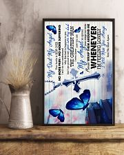 God -To My Angel Dad - Poster 16x24 Poster lifestyle-poster-3