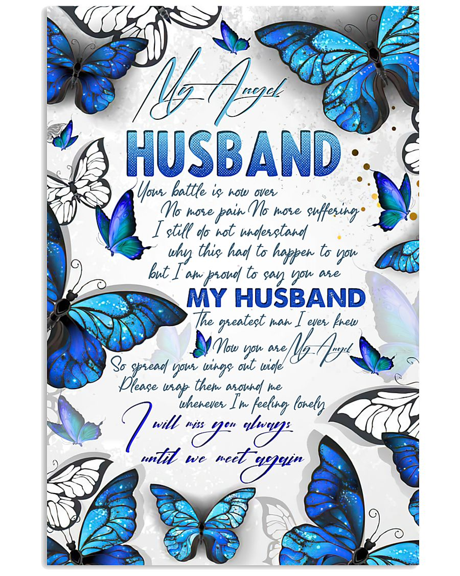 MY ANGEL HUSBAND - BUTTERFLY - I MISS YOU 16x24 Poster