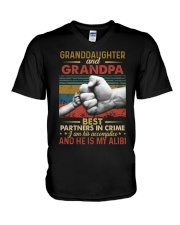 GRANDPA AND GRANDCHILDREN - TSHIRT V-Neck T-Shirt thumbnail