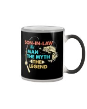SON-IN-LAW - FISHING - THE MAN THE MYTH  Color Changing Mug thumbnail
