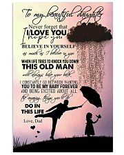 TO DAUGHTER - RAINY - NEVER FORGET 16x24 Poster front