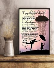 TO DAUGHTER - RAINY - NEVER FORGET 16x24 Poster lifestyle-poster-3