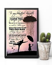 TO DAUGHTER - RAINY - NEVER FORGET 16x24 Poster lifestyle-poster-8