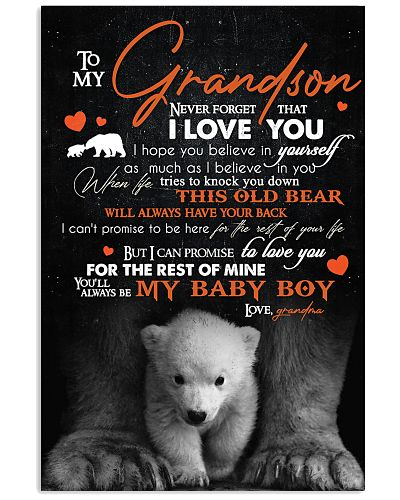TO MY GRANDSON - BEARS - I LOVE YOU