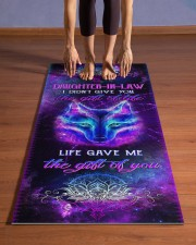 Daughter-in-law - Wolf - Mandala - Gift of Life  Yoga Mat 24x70 (vertical) aos-yoga-mat-lifestyle-26