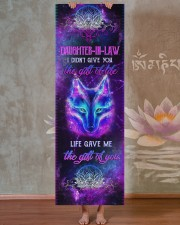 Daughter-in-law - Wolf - Mandala - Gift of Life  Yoga Mat 24x70 (vertical) aos-yoga-mat-lifestyle-29