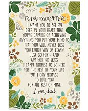 To my daughter i want you to believe 11x17 Poster front