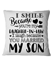 TO MY DAUGHTER IN LAW Square Pillowcase thumbnail