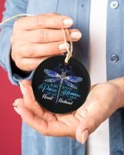 Angel Husband - Dragonfly - A Big Piece Circle ornament - single (porcelain) aos-circle-ornament-single-porcelain-lifestyles-01