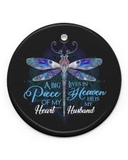 Angel Husband - Dragonfly - A Big Piece Circle ornament - single (porcelain) front