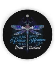 Angel Husband - Dragonfly - A Big Piece Circle ornament - single (wood) thumbnail