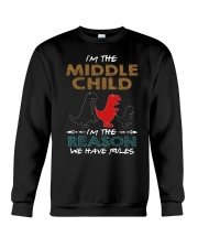 T-SHIRT - T REX - RULES - MIDDLE CHILD Crewneck Sweatshirt thumbnail