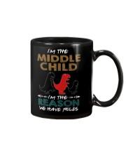 T-SHIRT - T REX - RULES - MIDDLE CHILD Mug thumbnail