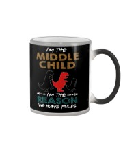 T-SHIRT - T REX - RULES - MIDDLE CHILD Color Changing Mug thumbnail
