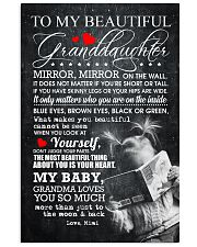 TO MY BEAUTIFUL GRANDDAUGHTER 16x24 Poster front