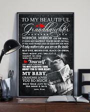 TO MY BEAUTIFUL GRANDDAUGHTER 16x24 Poster lifestyle-poster-2