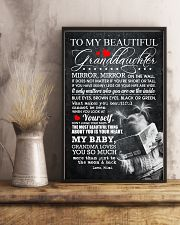 TO MY BEAUTIFUL GRANDDAUGHTER 16x24 Poster lifestyle-poster-3