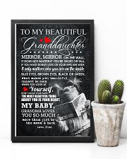 TO MY BEAUTIFUL GRANDDAUGHTER 16x24 Poster lifestyle-poster-8