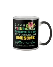 I AM A PROUD DAUGHTER-IN-LAW - PROTEA - VINTAGE Color Changing Mug tile