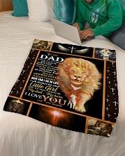 "FLEECE BLANKET - TO MY DAD - LION Small Fleece Blanket - 30"" x 40"" aos-coral-fleece-blanket-30x40-lifestyle-front-07"