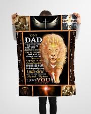 "FLEECE BLANKET - TO MY DAD - LION Small Fleece Blanket - 30"" x 40"" aos-coral-fleece-blanket-30x40-lifestyle-front-14"