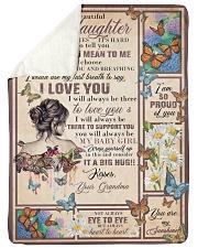 "Grandma to Granddaughter - I Love You  Large Sherpa Fleece Blanket - 60"" x 80"" thumbnail"