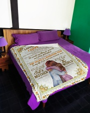 """DAUGHTER TO MOM Large Fleece Blanket - 60"""" x 80"""" aos-coral-fleece-blanket-60x80-lifestyle-front-01"""