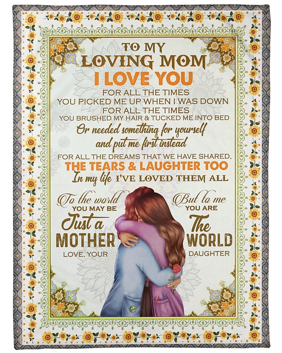 "DAUGHTER TO MOM Large Fleece Blanket - 60"" x 80"""