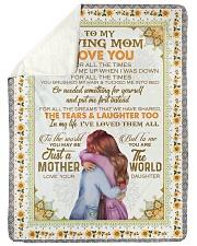 "DAUGHTER TO MOM Large Sherpa Fleece Blanket - 60"" x 80"" thumbnail"