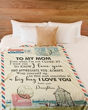 """FLEECE BLANKET - TO MY MOM - LETTER - I LOVE YOU Large Fleece Blanket - 60"""" x 80"""" aos-coral-fleece-blanket-60x80-lifestyle-front-02"""