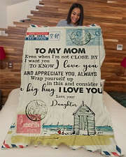 """FLEECE BLANKET - TO MY MOM - LETTER - I LOVE YOU Large Fleece Blanket - 60"""" x 80"""" aos-coral-fleece-blanket-60x80-lifestyle-front-04"""