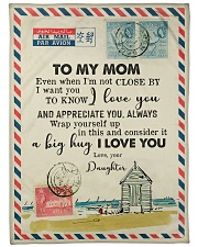 "FLEECE BLANKET - TO MY MOM - LETTER - I LOVE YOU Large Fleece Blanket - 60"" x 80"" front"