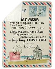 FLEECE BLANKET - TO MY MOM - LETTER - I LOVE YOU Sherpa Fleece Blanket tile