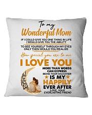 TO MY MOM Square Pillowcase thumbnail