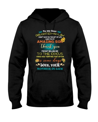 TO MY DAUGHTER-IN-LAW - FUNNY T-SHIRT - CIRCUS