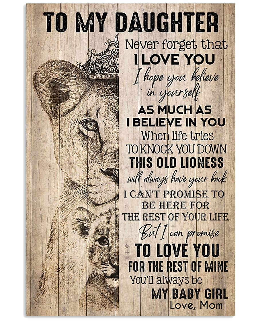 TO DAUGHTER - LIONESS - BABY GIRL 16x24 Poster