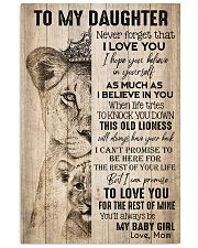 TO DAUGHTER - LIONESS - BABY GIRL 16x24 Poster front