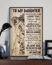 TO DAUGHTER - LIONESS - BABY GIRL 16x24 Poster lifestyle-poster-2