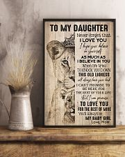 TO DAUGHTER - LIONESS - BABY GIRL 16x24 Poster lifestyle-poster-3