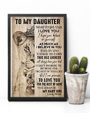 TO DAUGHTER - LIONESS - BABY GIRL 16x24 Poster lifestyle-poster-8