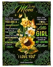 "To My Mom - Sunflower - Fleece Blanket Small Fleece Blanket - 30"" x 40"" front"