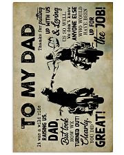 To My Dad - Motobike - Poster 16x24 Poster front
