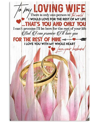 TO MY WIFE - RING - I LOVE YOU