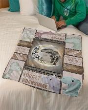 "Saurus - Dinosaurs - I Love You To The Moon Small Fleece Blanket - 30"" x 40"" aos-coral-fleece-blanket-30x40-lifestyle-front-07"