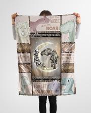 "Saurus - Dinosaurs - I Love You To The Moon Small Fleece Blanket - 30"" x 40"" aos-coral-fleece-blanket-30x40-lifestyle-front-14"