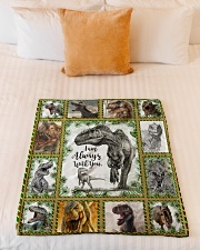 """FLEECE BLANKET - DINO - I AM ALWAYS WITH YOU Small Fleece Blanket - 30"""" x 40"""" aos-coral-fleece-blanket-30x40-lifestyle-front-04"""