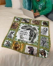 """FLEECE BLANKET - DINO - I AM ALWAYS WITH YOU Small Fleece Blanket - 30"""" x 40"""" aos-coral-fleece-blanket-30x40-lifestyle-front-07"""