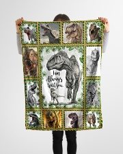 """FLEECE BLANKET - DINO - I AM ALWAYS WITH YOU Small Fleece Blanket - 30"""" x 40"""" aos-coral-fleece-blanket-30x40-lifestyle-front-14"""