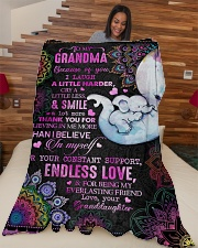 """Granddaughter to Grandma - Because Of You I Laugh  Large Fleece Blanket - 60"""" x 80"""" aos-coral-fleece-blanket-60x80-lifestyle-front-04"""